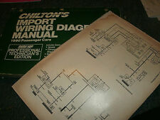 1990 MAZDA MIATA OVERSIZED WIRING DIAGRAMS SCHEMATICS MANUAL SHEETS SET