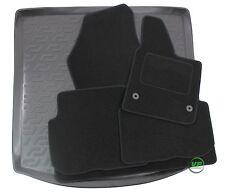 VW TOURAN 2003-2015  5 DOOR Tailored black floor car mats + boot tray mat