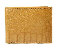 Exotic Wallet Genuine Crocodile Leather Color Cognac-Butter