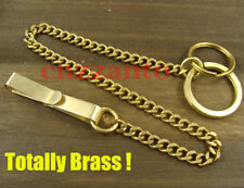 Totally Solid Brass belt clip pants key wallet chain ring hook fob wallet H233