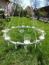 Windlicht Ring Ø 50 Creme Rösen Shabby Chic Vintage Leuchter 8er Haus Garten