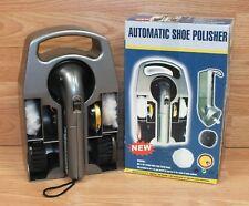 Unbranded 6 Piece Set Automatic Handheld Shoe Polisher w/ Storage Caddy **READ**