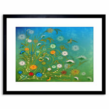 Painting Illustration Abstract Floral Pattern Design Framed Print 9x7 Inch