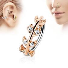 CZ Vine Ear Cartilage Earrings Daith Tragus Helix Hoop Nose Rings