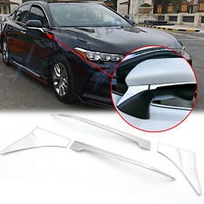 Chrome Rearview Side Mirror Under Molding Cover Trims For Toyota Camry 2018-2020