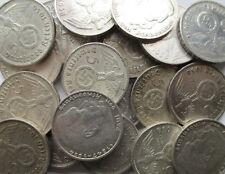 Drittes Reich Lot von 50 x 5 Reichsmark 1936-1939, mit HK, Silber