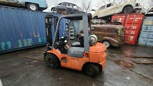 2005 TOYOTA 7F FORKLIFT WORK HORSE! LP FUEL- DUAL FUEL CAPABLE LOCATED IN NY