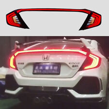Vland For Honda CIVIC LED TAIL LIGHTS 2016-2017 REAR LAMP & REAR LIP Trunk LIGHT