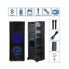 "STARAUDIO 5000W Dual 15"" PA DJ Active Powered Stage Bluetooth Speaker System Mic"