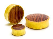 Jackfruit Wood with Red Tigerwood Double Flare Organic Plug - Price Per 1