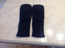BLACK TAEKWONDO KARATE MMA SHIN INSTEP PROTECTOR CLOTH PAD LEG FOOT GUARD