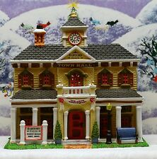 "LEMAX CHRISTMAS VILLAGE ""HARTFORD FALLS TOWN HALL"" ***EX COND***ORIG BOX***"