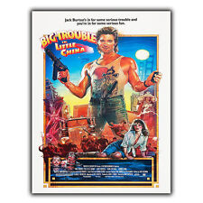 BIG TROUBLE IN LITTLE CHINA A5 METAL SIGN PLAQUE Retro Film Movie Advert poster