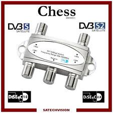 Commutateur DiSEqC 4/1 Chess 4 Entrées satellites 1 sortie Récepteur HD 3d 4k