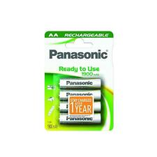 4Pcs Panasonic HHR-3MVE AA Rechargeable Batteries Pre-Charged & Ready To Use