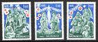MONACO. NOËL série de 3 timbres. 1982. - Y&T N° 1352 à 54 cote 3,45€