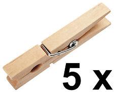 Wäscheklammern Klammern Holzwäscheklammer aus Holz - 7,3 cm - 5 Stück