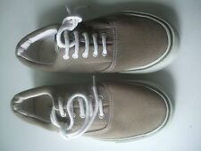 Barratts . Beige Canvas Lace-ups Size 6.