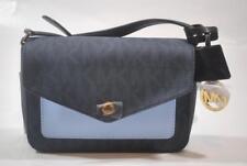 a8cd28247582 New Michael Kors Greenwich Small Flap Crossbody Bag - Baltic Blue & Light  Sky