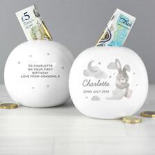 Personalised Baby Bunny Money Box Christenings, Baby Showers Gift, Birthday