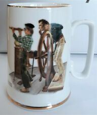 Norman Rockwell Museum 1985 River Pilot Coffee Mug Decorative Collectible