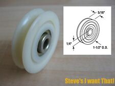"1-1/2"" Sliding Glass Door Roller Wheel Nylon PDR503 D1506 D-1506 #H12D"