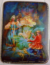 """LACQUER BOX PALEKH RUSSIA """"THE STONE FLOWER"""" FAIRY TALE by BAZHOV"""