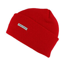 Mororock Cuff Beanie Hat Men Women Acrylic Plain Knit Ski. cedacec3c2d0