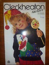 CLECKHEATON KIDS KNITS 4 - KNITTING PATTERN BOOK #345 - 5 & 8 PLY