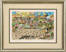Charles Fazzino Next Year in Jerusalem Signed Numbered Framed 3D Art Serigraph