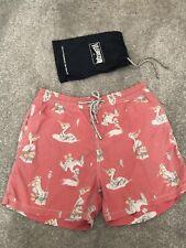 Womens Red Shrimps Shorts Swimwear Running Shorts Beach Shorts for Women