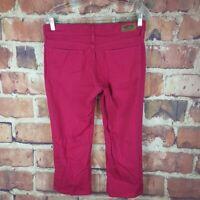 Levi's Signature Cropped Jeans Womens Size 10 Capri Hot Pink 20 Inseam