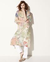 💕NWT JOHNNY WAS Scarf Print ALYSSA KIMONO DRESS w Slip V Neck Midi XL $348 💕