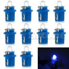 10X T5 Car B8.5 LED Speedo Dashboard Dash Wedge Side Light Bulb Lamp Blue 12V