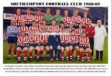 SOUTHAMPTON F.C.TEAM PRINT 1968-69 (CHANNON/McGRATH)