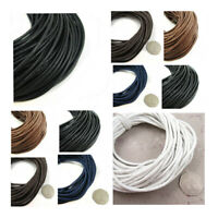 3mm WAXED COTTON CORD JEWELLERY MAKING STRINGING *5 COLOURS* LEATHERCRAFT