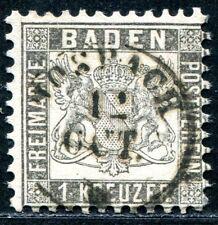 BADEN 1862 17c gest SELTENE FARBE BEFUND STEGMÜLLER BPP 380€(S0966