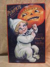 Pumpkin Carving Halloween Tin Metal Sign Holiday