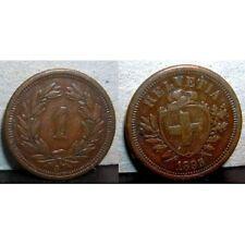 SWITZERLAND 1 Rappen 1895  VF