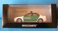 ALFA ROMEO 156 1997 POLIZEI MINICHAMPS 430120790 1/43 BLANCHE & VERTE GERMANY