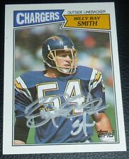 Billy Ray Smith Signed Chargers 1987 Topps Football Card #348 Autograph Arkansas