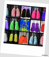 TRANCEPANCE FLUFFY FURRY LEGWARMERS BOOTS COVERS RAVE