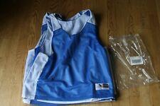 Lot 6 Augusta Pinnie Blue/White Reversible Mesh Tank Top Jersey Shirt ADULT Sz M