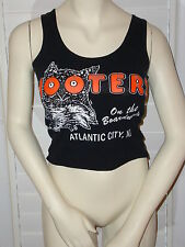 OFFICIAL HOOTERS UNIFORM T SHIRT SIZE MEDIUM ATLANTIC CITY NJ BLACK TANK