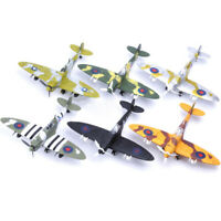 1Pcs Random Color  British Spitfire WW2 Fighter Plastic Assemble Model Kit 1/48