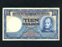 Netherlands:P-83,10 Gulden,1949 * King William I * VF-EF *