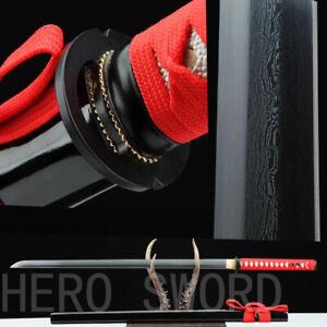 High quality Handmade Damascus Steel Japanese Ninjato samurai sword Razor Sharp