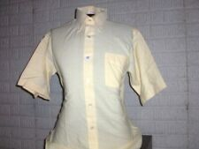 Vintage 1970's Homer Reed yellow polyester & cotton button front shirt L New