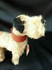 VINTAGE OLD MINIATURE MOHAIR DOG TERRIER TEDDY BEAR TOY CHILTERN ORIGINAL TAG