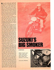 1968 SUZUKI 250 SCRAMBLER MOTORCYCLE ~ ORIGINAL 2-PAGE ARTICLE / AD